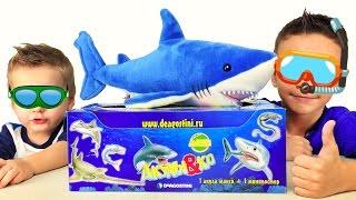 ★ Акулы & Ко Макси от DeAgostini. Открываем тянущихся Акул из рекламы(Акулы и Ко - коллекция игрушек от Де Агостини. Разные виды акул и даже светящаяся в темноте. Растягиваем..., 2016-02-02T16:41:34.000Z)
