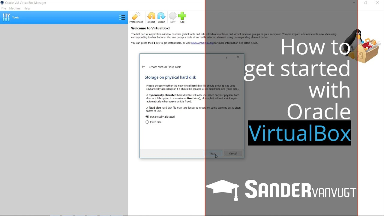 Getting started with Virtualbox