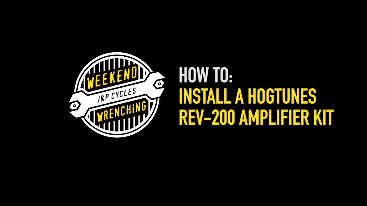 Hogtunes 24 2 Amp Wiring Diagram Great Installation Of Harley Amplifier Weekend Wrenching And Speaker Kit Youtube Rh Com Starter