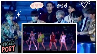 [Fanmade]Bts Reaction BLACKPINK - CRAZY OVER YOU | 2020-2021 LIVE STREAM [THE SHOW]#bts#blackpink
