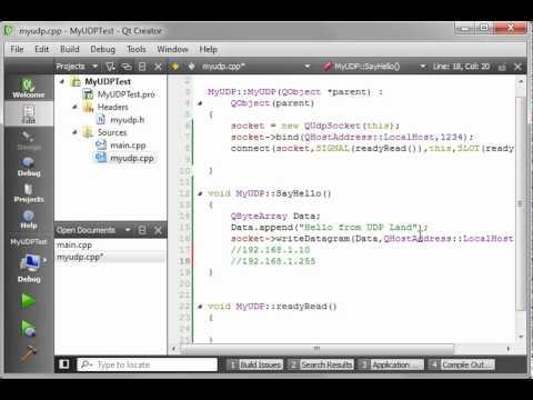C++ Qt 71 QUDPSocket