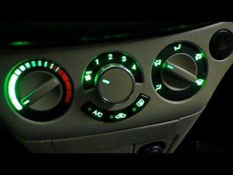 Замена лампочек подсветки Блока кондиционера и печки Chevrolet Aveo Т250.