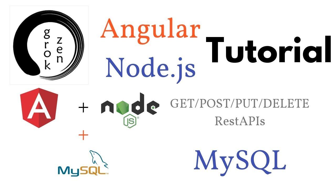 Angular 6 HttpClient Crud + Node js Express Sequelize +