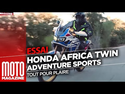 Honda Africa Twin Adventure Sports DCT 2018 - TEST Moto Magazine (ENGLISH SUBTITLES)