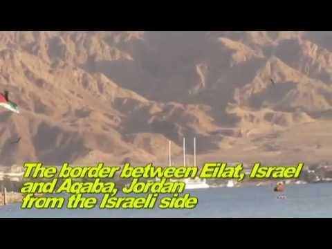 Rare to see - the border between Aqaba (Jordan) to Eilat (Israel)
