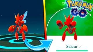 EVOLVING TO SCIZOR IN POKEMON GO! NEW Generation 2 Evolution + New Update!