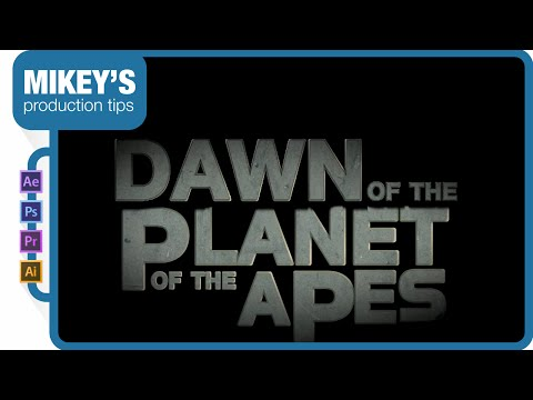 Dawn of the Planet of the Apes trailer title after effects tutorial