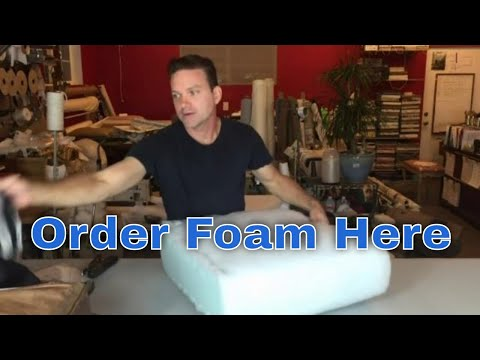 Replace the foam in your seat cushions fast and easy!