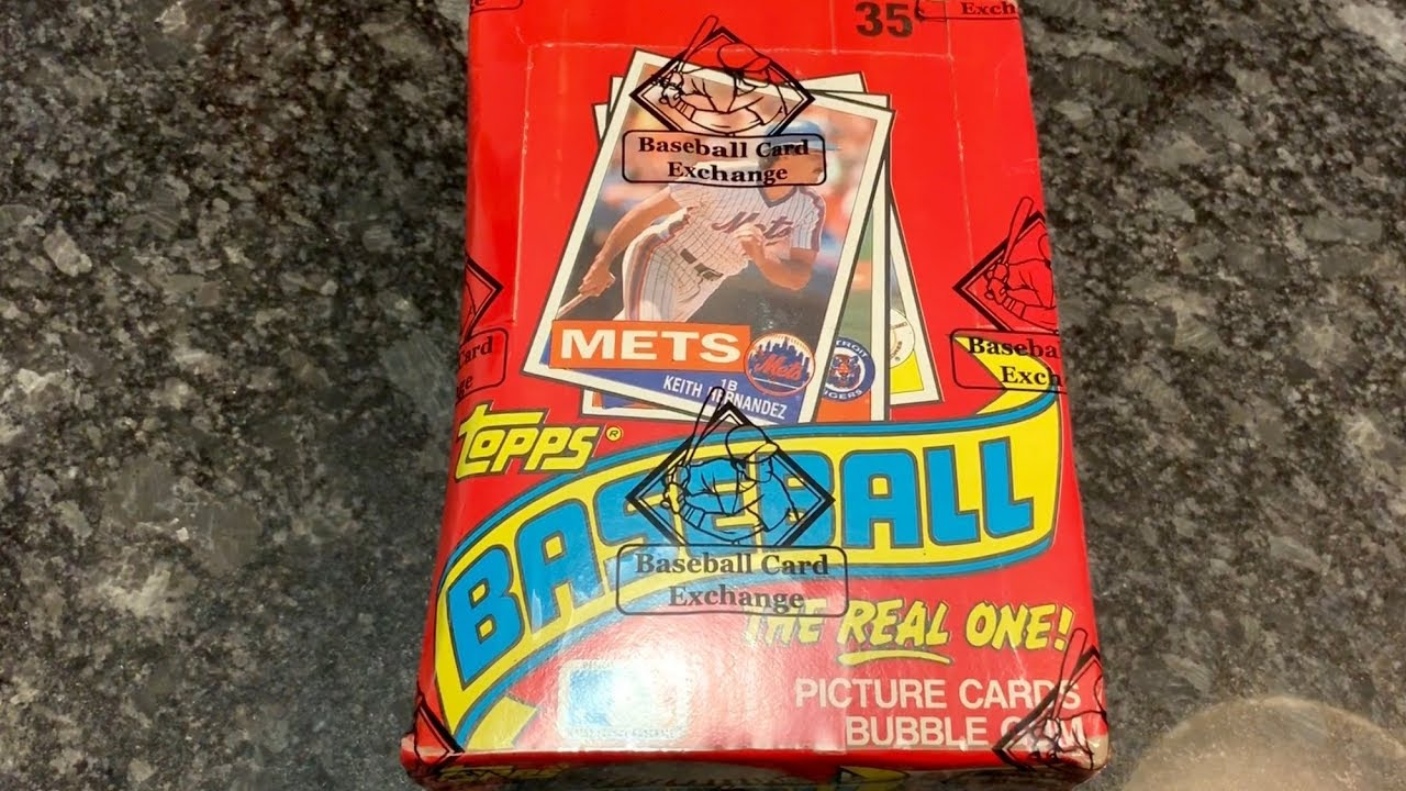1985 Topps Box Break And The Search For A Psa 10 Mark Mcgwire Rookie Card Throwback Thursday