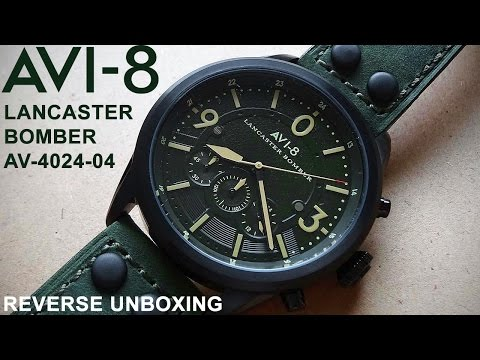 AVI-8 Lancaster Bomber Watch | REVERSE UNBOXING #4