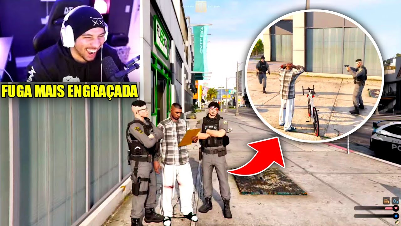 CJ DEU FUGA MAIS ENGRAÇADA DO GTA !!