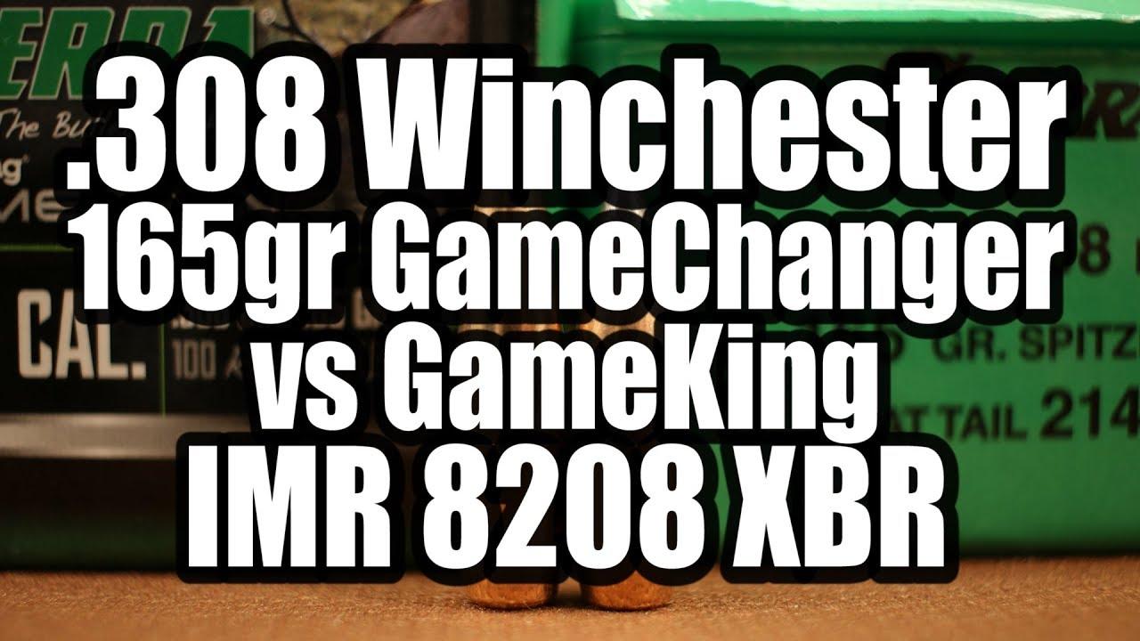 308 Win - 165gr Sierra GameChanger and GameKing