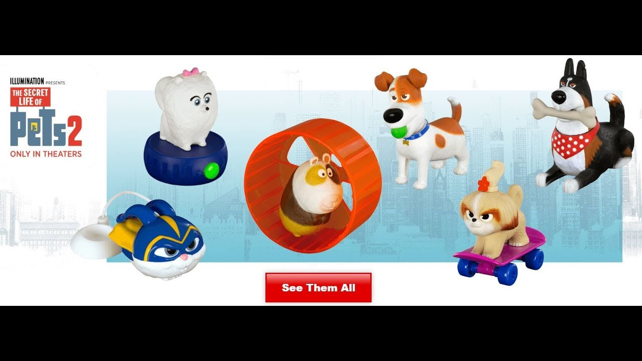 The Secret Life Of Pets 2 May/June 2019 Mcdonald's Happy Meal Toys are  Finally Here!