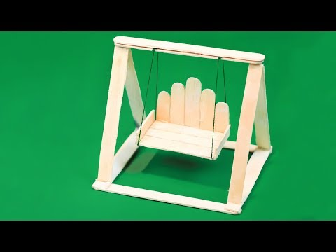 Popsicle stick crafts | How To Make Popsicle Stick Swing (DIY Miniature Jhula)