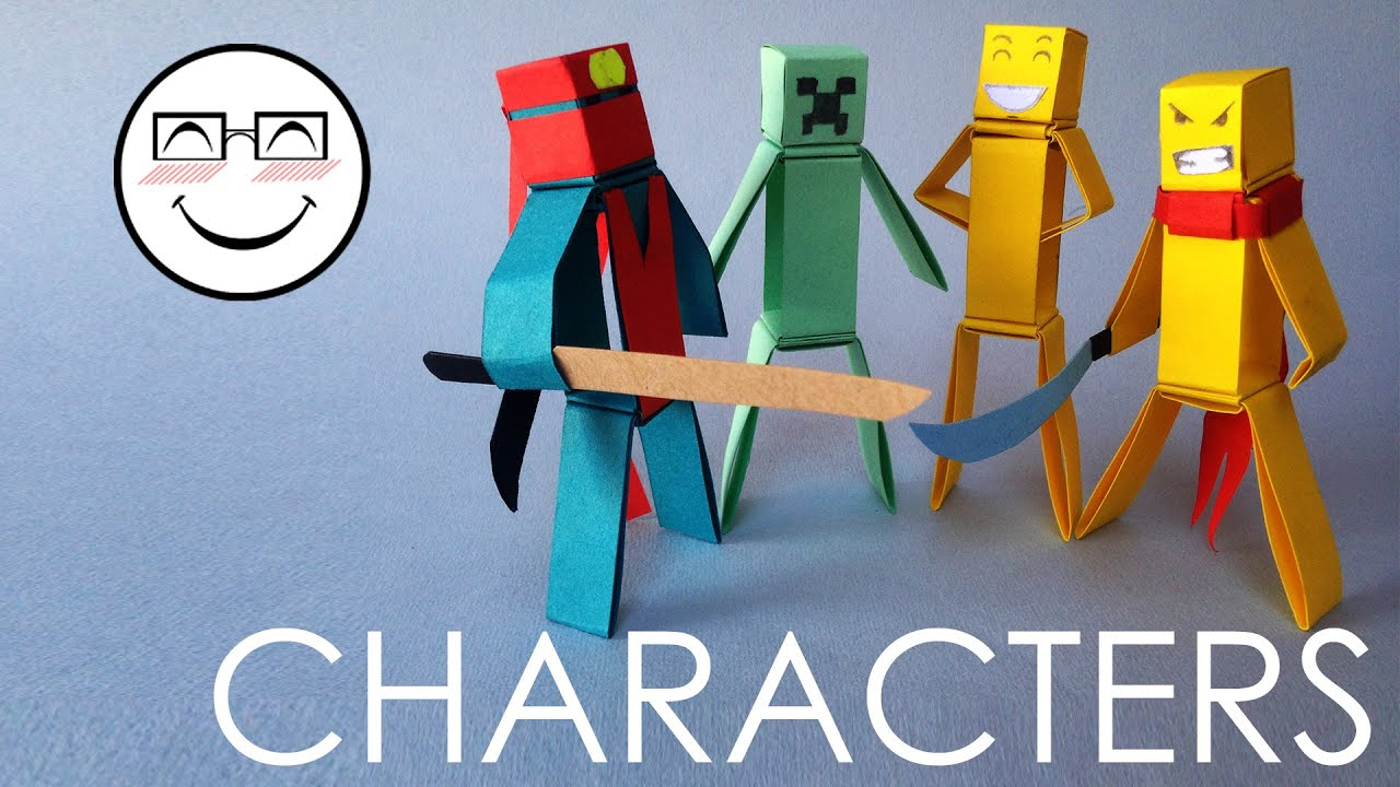 How to make paper characters minecraft characters without glue how to make paper characters minecraft characters without glue by vyouttar origami vm3 youtube jeuxipadfo Images
