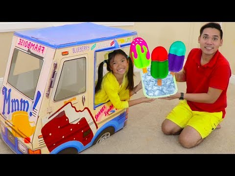 Wendy Pretend Play w/ Popsicle Ice Cream Truck Kids Toys