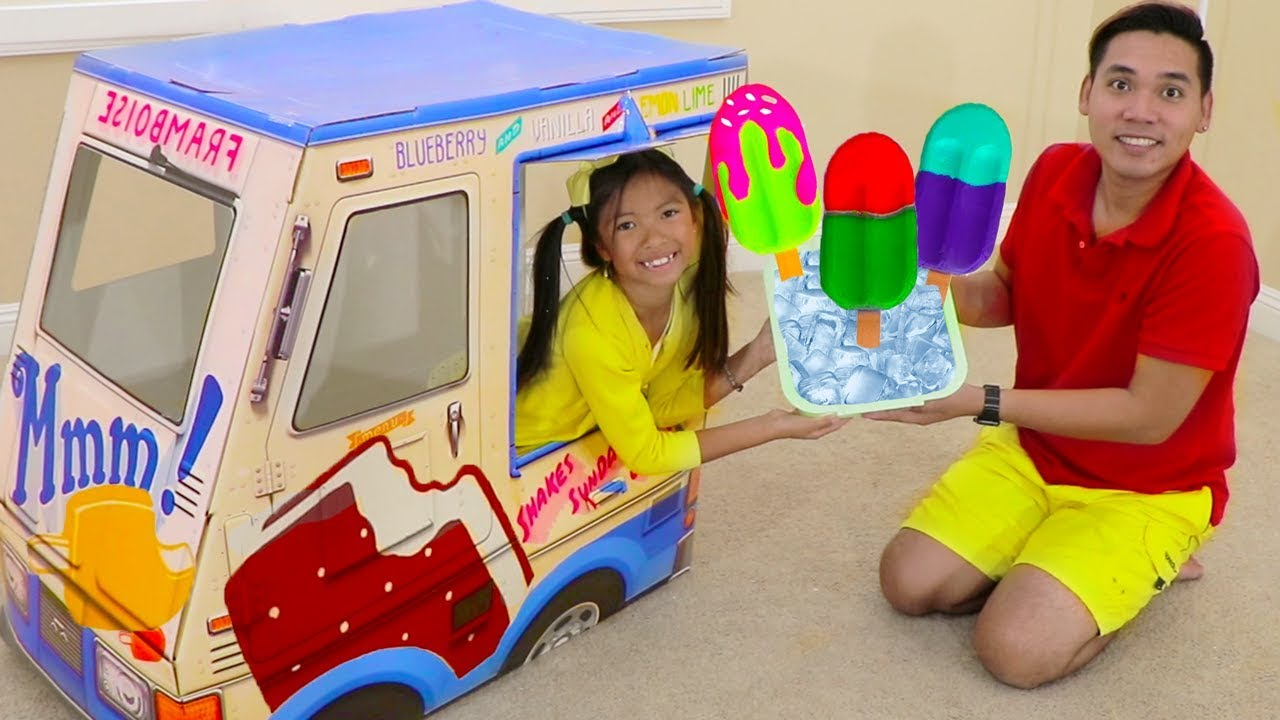 Wendy Pretend Play W Popsicle Ice Cream Truck Kids Toys