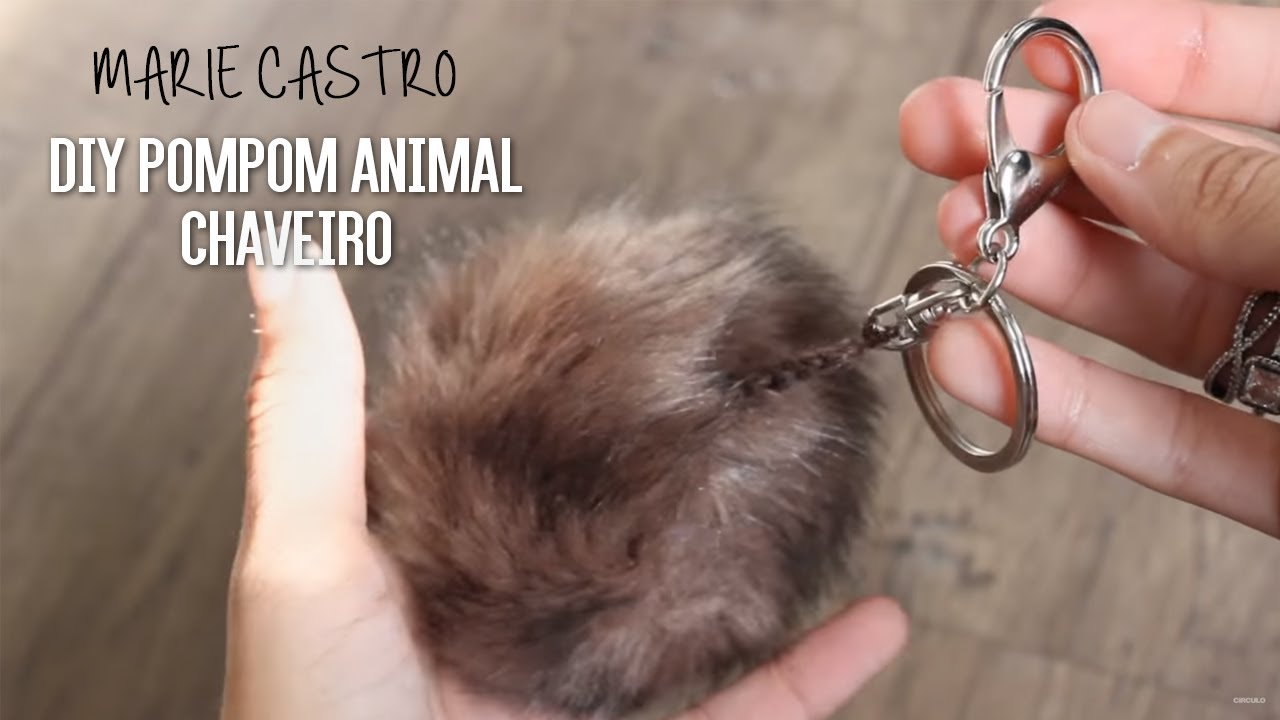 14b0f98b62778 Marie Castro - DIY Pompom Animal Chaveiro - YouTube