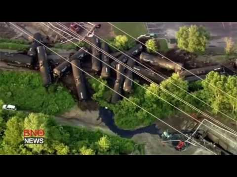 Freight Train Transporting Crude Oil Derails in Chicago Suburb