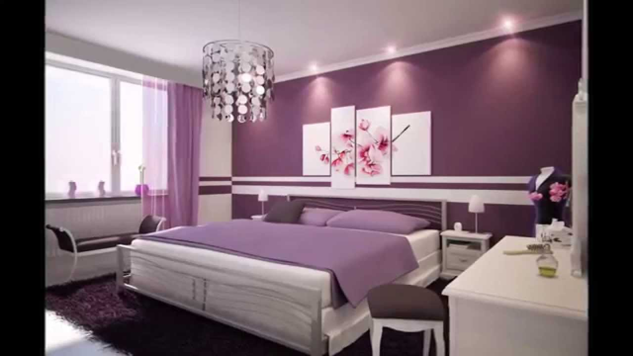 Photos de d coration chambre violet youtube for Decoration des chambres de nuit