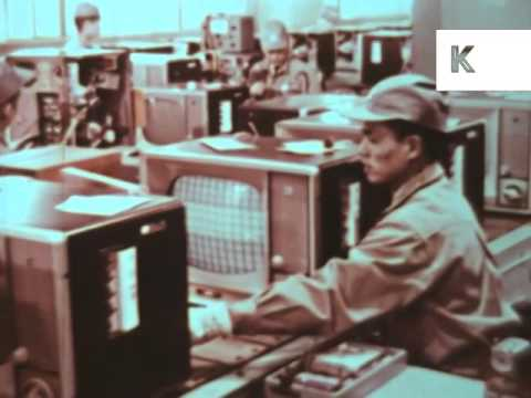 1960s Japan Television Manufacturing, Electronics, TV, Archive Footage