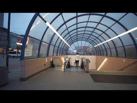 Poland, Warsaw, Centrum metro station, 3X escalator, 4X elevator