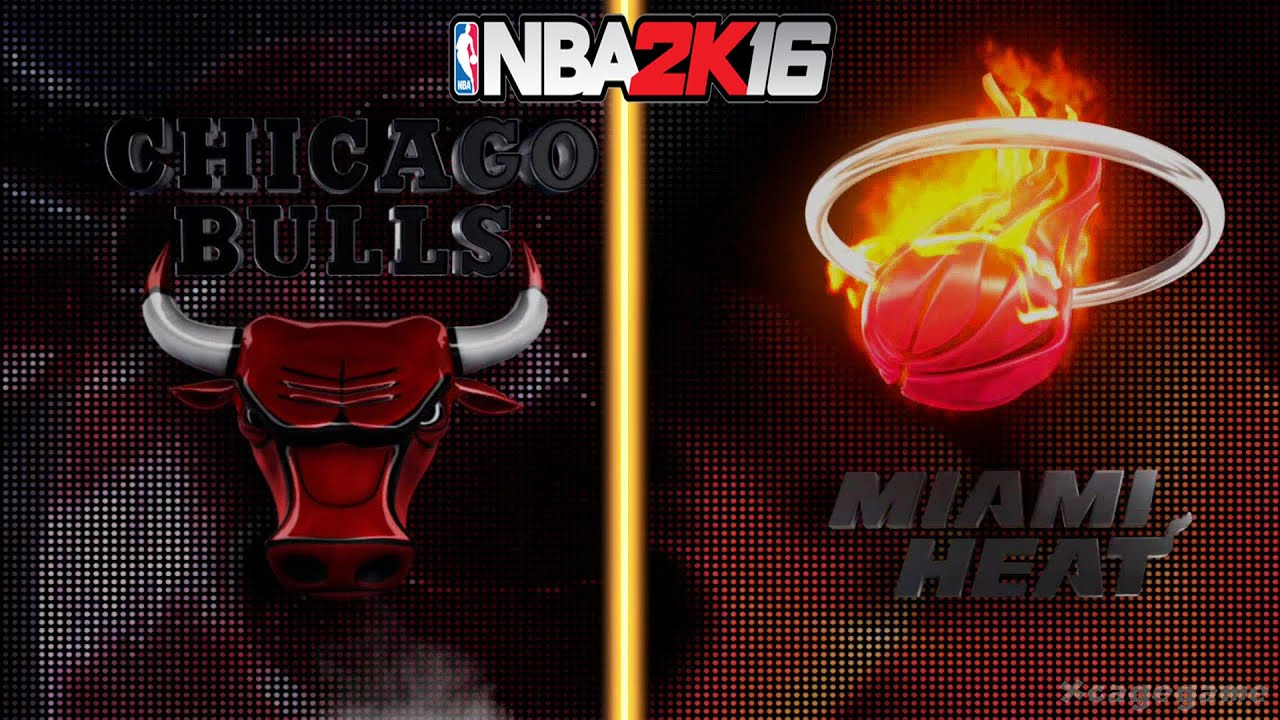 Nba 3d Live Wallpaper Nba 2k16 Gameplay Chicago Bulls Vs Miami Heat Full