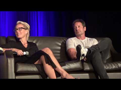 David Duchovny & Gillian Anderson Wizard World 82518 Part 1