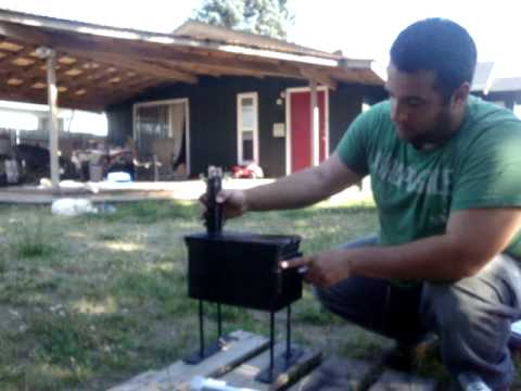 50cal AMMO can stove - YouTube