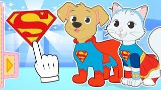 🐱 BABY PETS 🐶 Max y Kira se transforman en Supehéroes | Baby Superpets #babypets