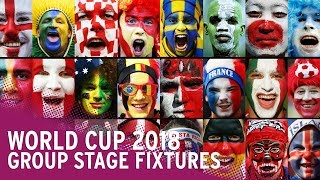 World cup 2018 - date, time, venue and tv channel for every group match