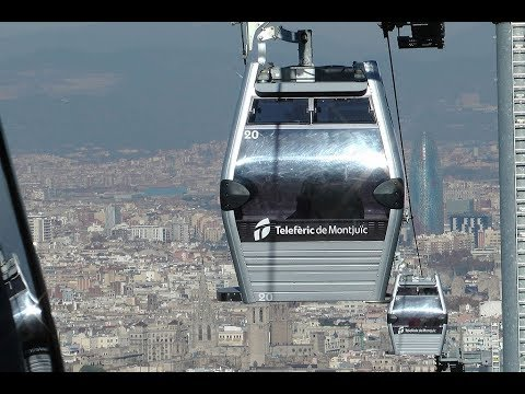 Places to see in ( Barcelona - Spain ) Teleferic de Montjuic