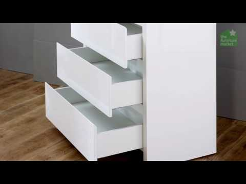 White High Gloss 3 Drawer Compact Chest of Drawers
