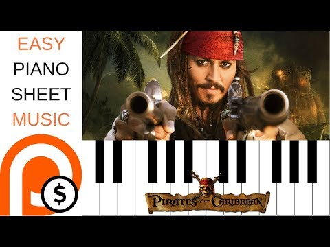 PIRATES OF THE CARIBBEAN | EASY PIANO SHEET MUSIC | PATREON FRIDAY
