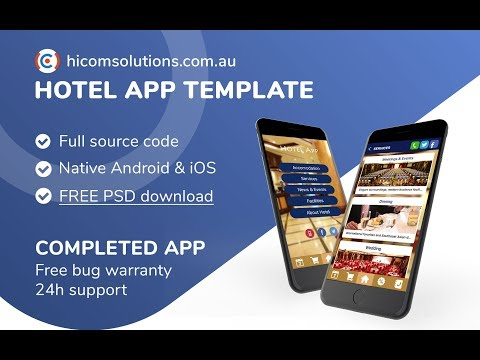 App template for Hotel booking solution  Android, iOS