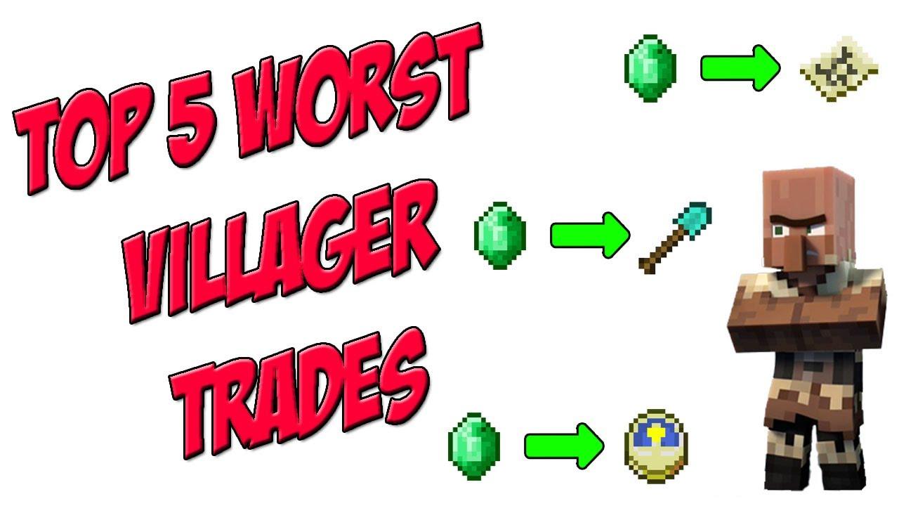 Top 10 Best Villager Trades in Minecraft - YouTube
