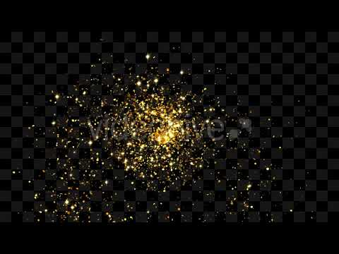 Gold Glitter Elements-After Effects Template Videohive