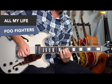 Foo Fighters - All My Life Electric Guitar Lesson Tutorial - Simple Chords