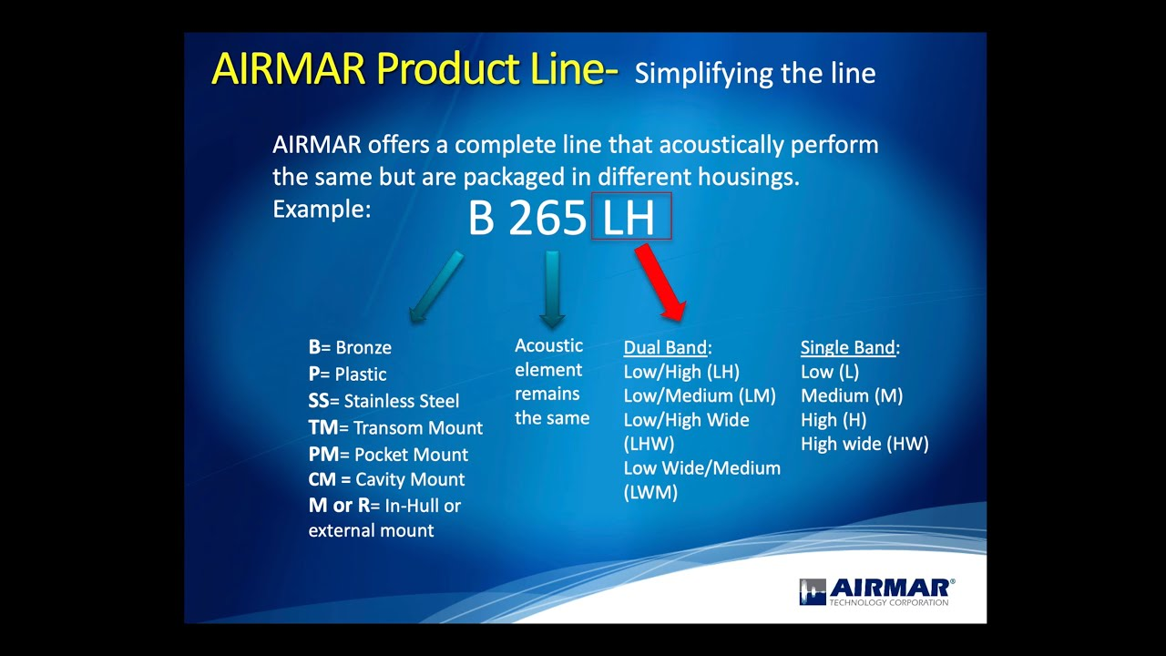 Transducer University - Simplifying the Airmar Product Line