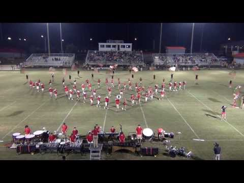 """Madison County High School Red Raider Band 2013 Competition Show """"Kaleidoscope"""" Opener 08/23/2013"""
