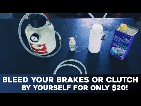 BLEED YOUR BRAKES OR CLUTCH BY YOURSELF FOR ONLY $20
