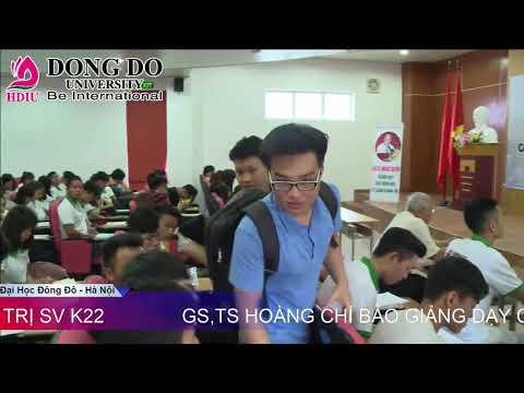 GS.TS.Hoàng Chí Bảo Giảng Dạy Sinh Viên Đại Học Đông Đô - Hà Nội Khóa K22