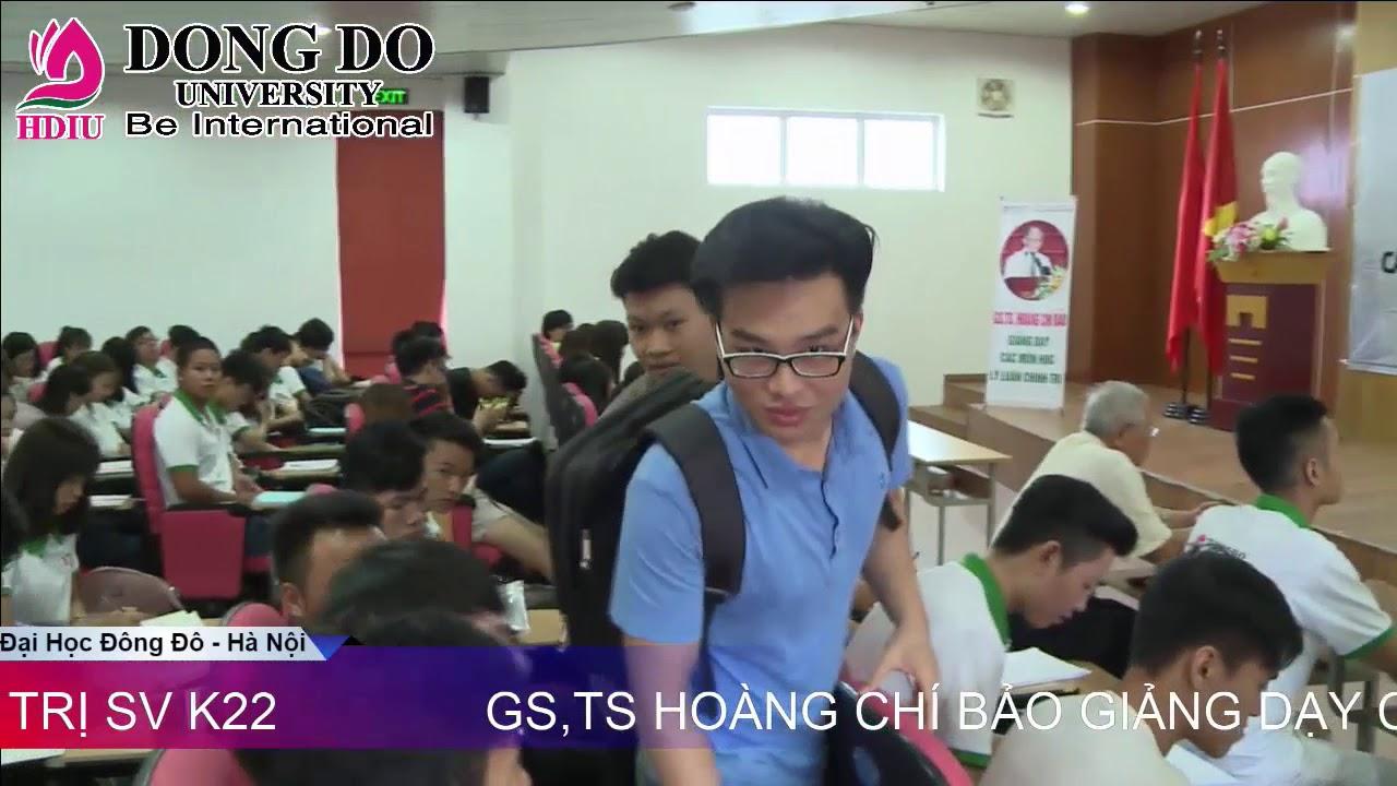 GS.TS.Hoàng Chí Bảo giảng dạy Sinh viên Đại Học Đông Đô – Hà Nội khóa K22