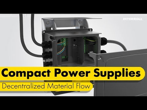 Compact power supplies for decentralized material flow
