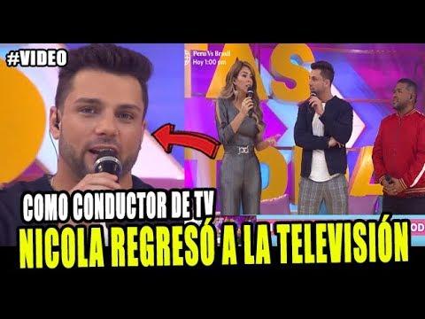 NICOLA PORCELLA REGRESÓ A LA TELEVISIÓN COMO CONDUCTOR DE ESTAS EN TODAS