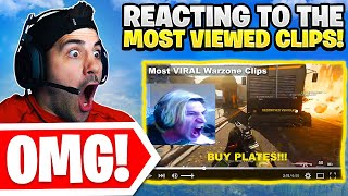 Reacting To The MOST VIEWED Warzone Clips! 😯