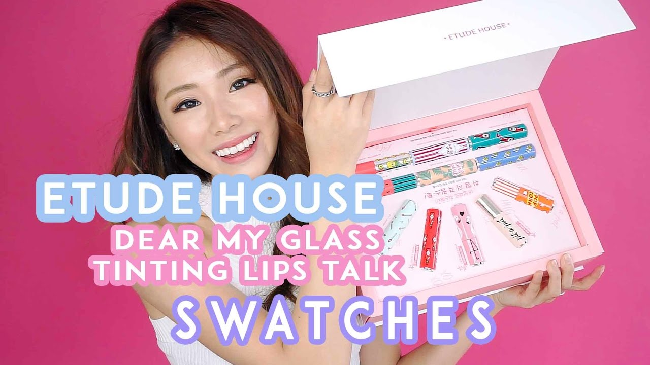 etude house dear my glass tinting lips talk review swatches mongabong youtube. Black Bedroom Furniture Sets. Home Design Ideas