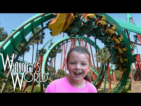 SCARY ROLLER COASTERS | Blakely and Whitney at Busch Gardens