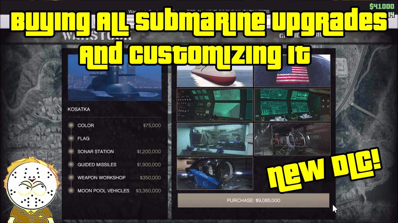 Download GTA Online Cayo Perico DLC Buying All Submarine Upgrades And Impressions