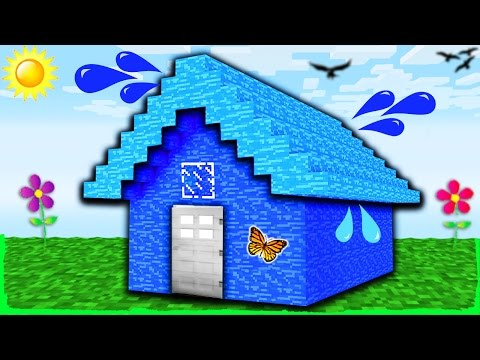 Minecraft - How to Build a 100% WATER HOUSE (Noob Trolling)